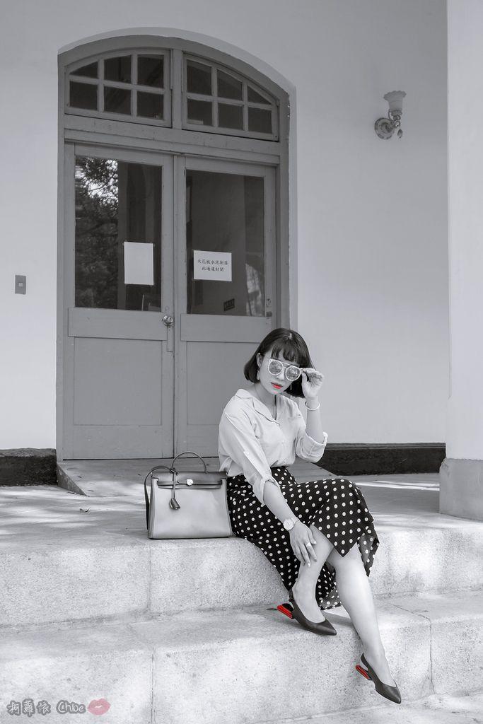 LOOKBOOK 個性女孩穿搭首選 MISS 21 獨特創意方形夾心尖頭全真皮低跟鞋 開箱%26;穿搭分享13.jpg