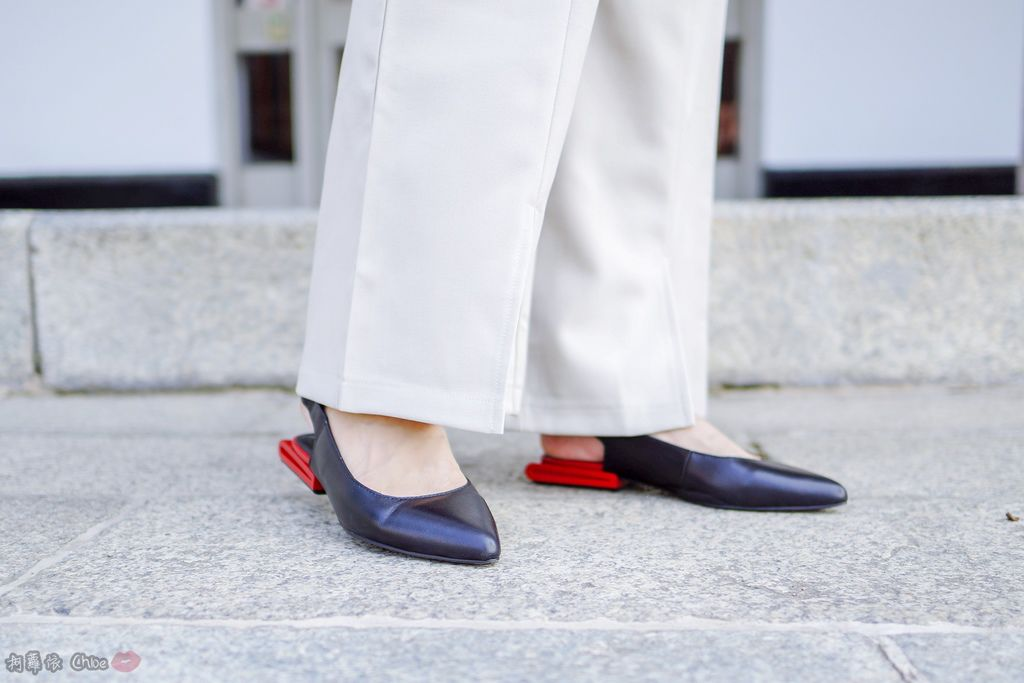 LOOKBOOK 個性女孩穿搭首選 MISS 21 獨特創意方形夾心尖頭全真皮低跟鞋 開箱%26;穿搭分享17.jpg