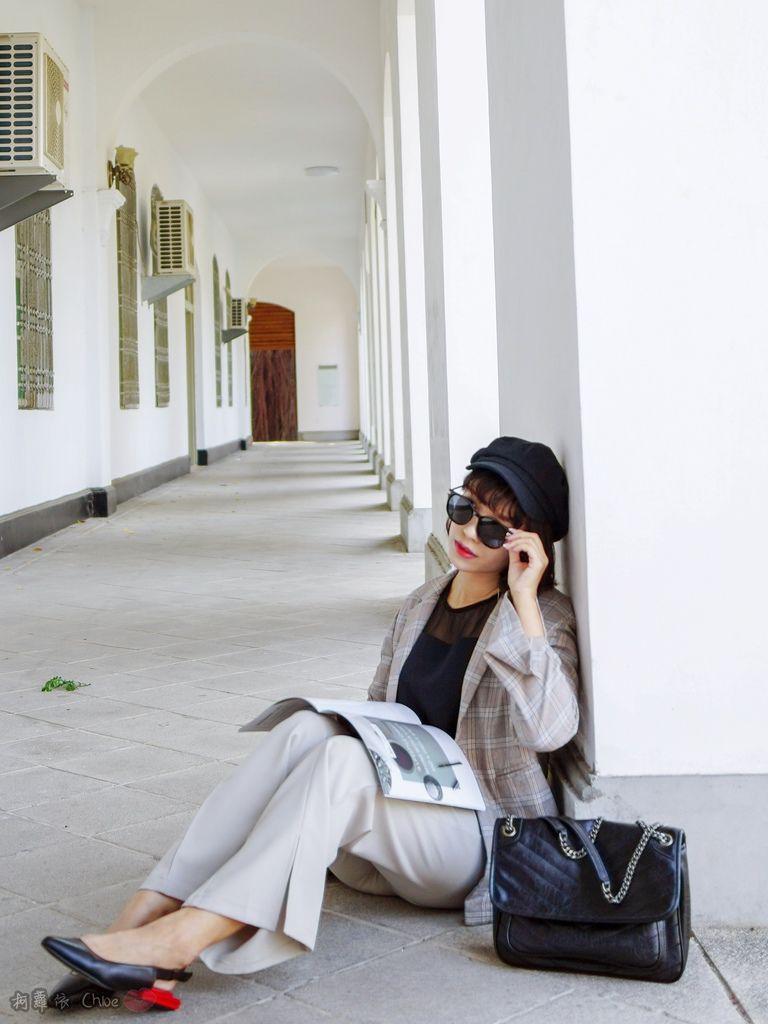 LOOKBOOK 個性女孩穿搭首選 MISS 21 獨特創意方形夾心尖頭全真皮低跟鞋 開箱%26;穿搭分享18.jpg