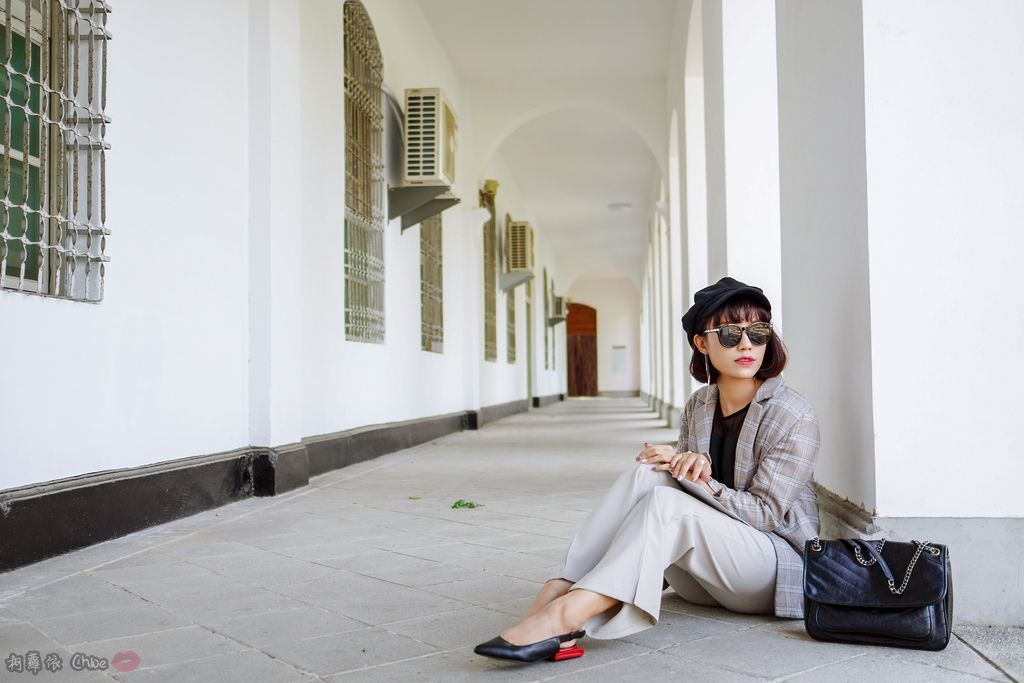 LOOKBOOK 個性女孩穿搭首選 MISS 21 獨特創意方形夾心尖頭全真皮低跟鞋 開箱%26;穿搭分享19.jpg
