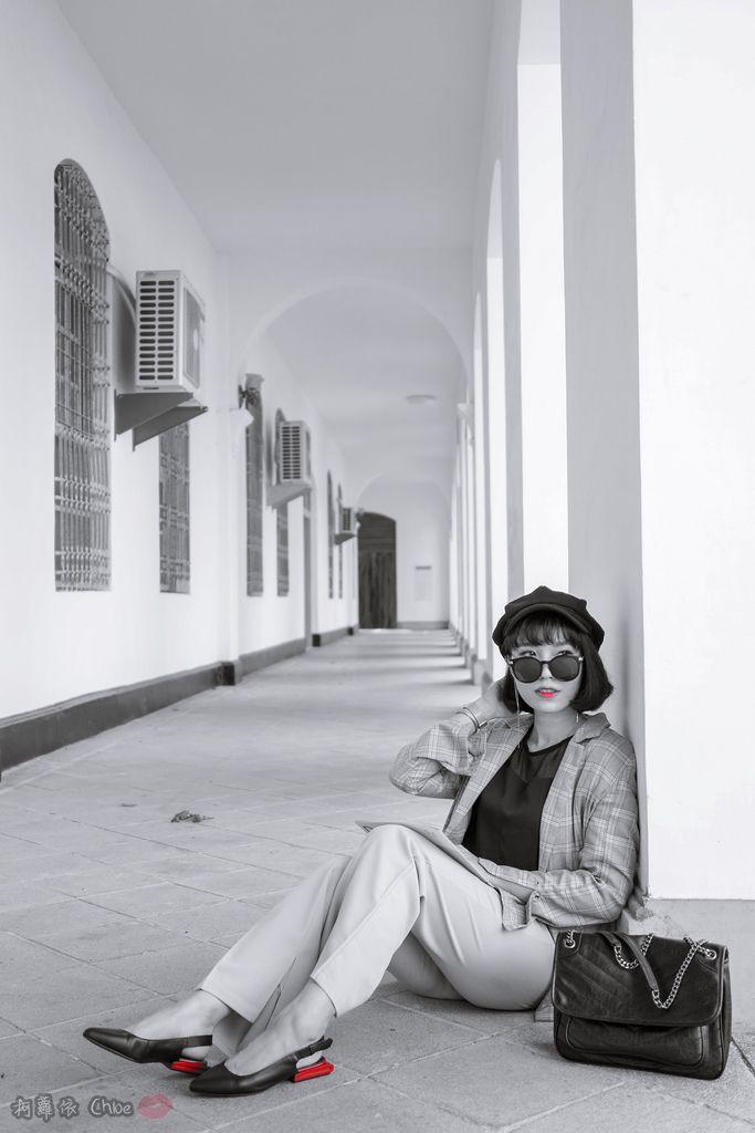 LOOKBOOK 個性女孩穿搭首選 MISS 21 獨特創意方形夾心尖頭全真皮低跟鞋 開箱%26;穿搭分享21.jpg