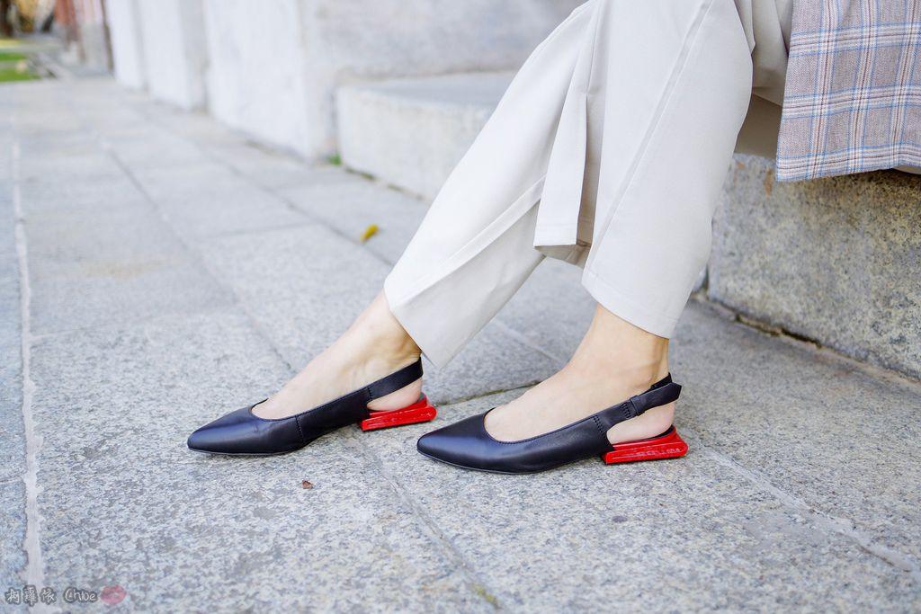 LOOKBOOK 個性女孩穿搭首選 MISS 21 獨特創意方形夾心尖頭全真皮低跟鞋 開箱%26;穿搭分享20.jpg