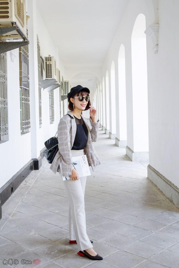 LOOKBOOK 個性女孩穿搭首選 MISS 21 獨特創意方形夾心尖頭全真皮低跟鞋 開箱%26;穿搭分享22.jpg
