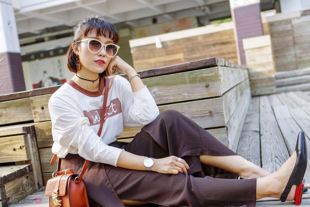 LOOKBOOK 個性女孩穿搭首選 MISS 21 獨特創意方形夾心尖頭全真皮低跟鞋 開箱%26;穿搭分享24.jpg