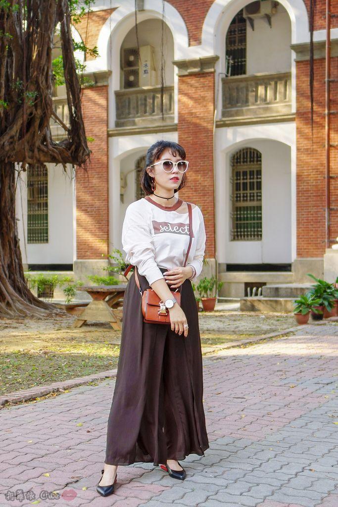 LOOKBOOK 個性女孩穿搭首選 MISS 21 獨特創意方形夾心尖頭全真皮低跟鞋 開箱%26;穿搭分享25.jpg