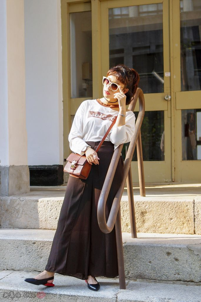 LOOKBOOK 個性女孩穿搭首選 MISS 21 獨特創意方形夾心尖頭全真皮低跟鞋 開箱%26;穿搭分享27.jpg