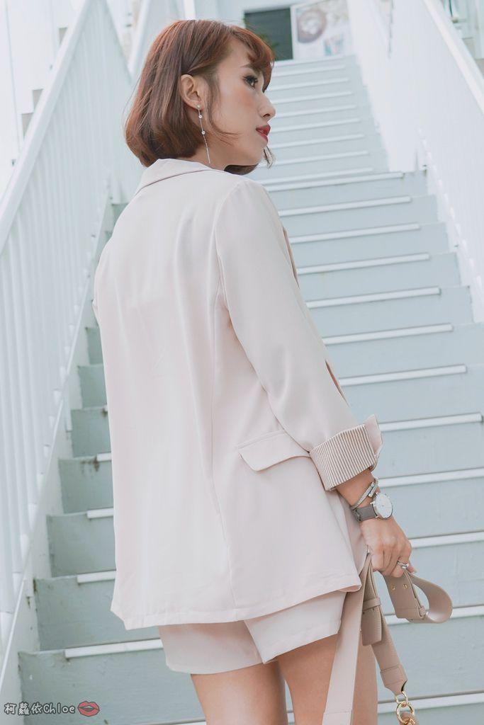 服飾穿搭 歐膩必入手 質感SecretB雪紡西裝套裝 多款穿法~重複穿搭不NG12.jpg