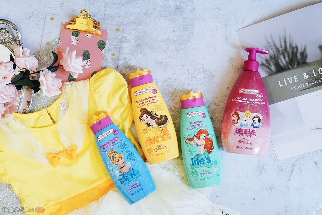兒童洗沐 義大利自然之綠-公主洗髮沐浴泡泡組 四歲以上的小公主們最愛2.jpg