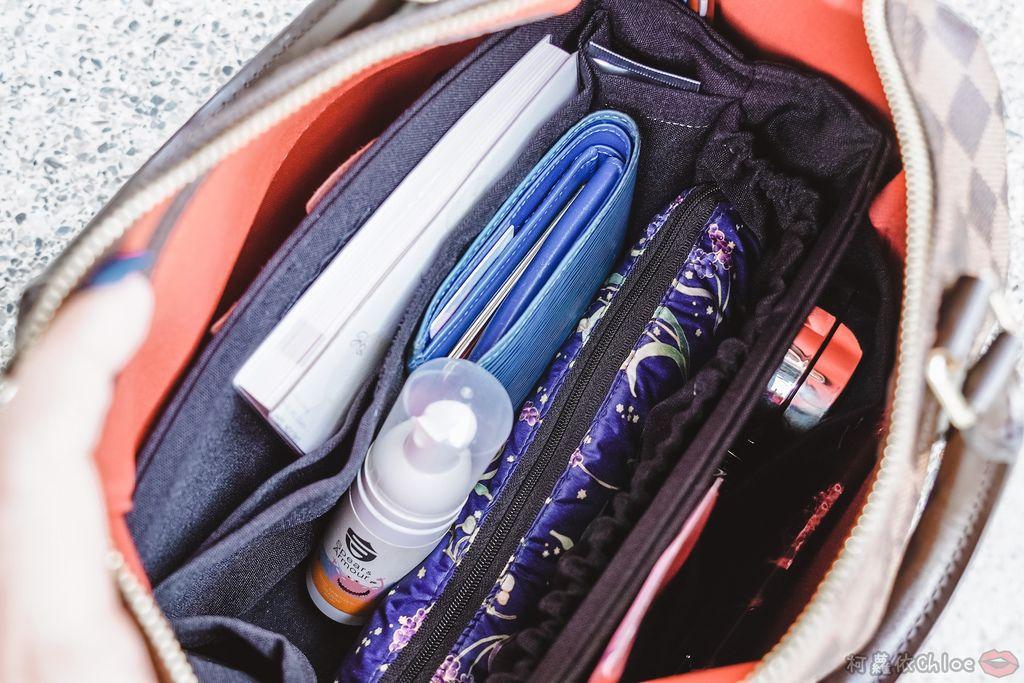 一次收納快速攜帶!CoolgDesign 袋中袋 解決了我收納問題 LV Speedy、Longchamp包適用2.jpg