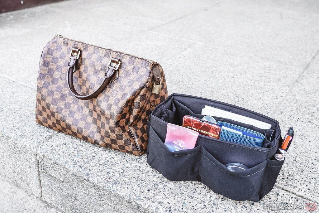 一次收納快速攜帶!CoolgDesign 袋中袋 解決了我收納問題 LV Speedy、Longchamp包適用3.jpg