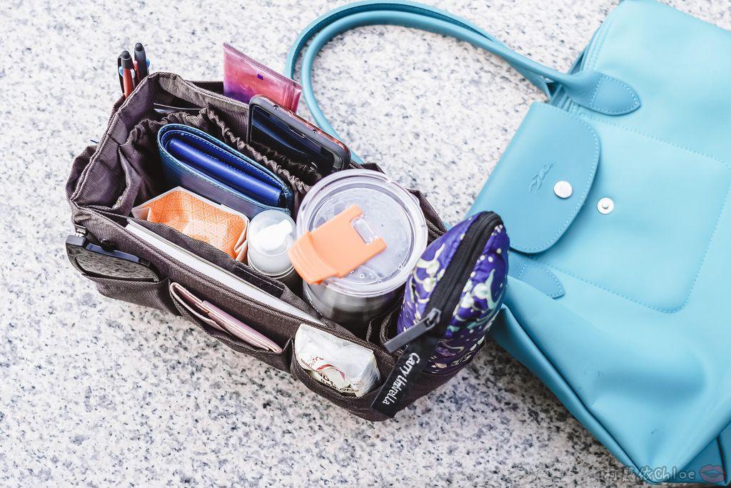 一次收納快速攜帶!CoolgDesign 袋中袋 解決了我收納問題 LV Speedy、Longchamp包適用17.jpg