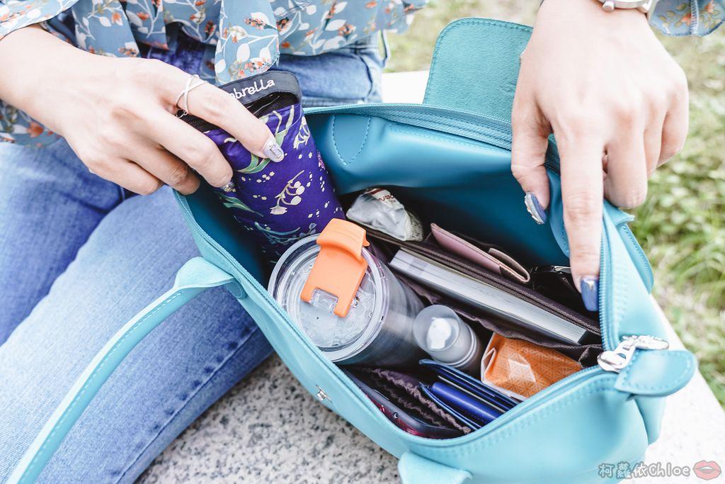 一次收納快速攜帶!CoolgDesign 袋中袋 解決了我收納問題 LV Speedy、Longchamp包適用18.jpg