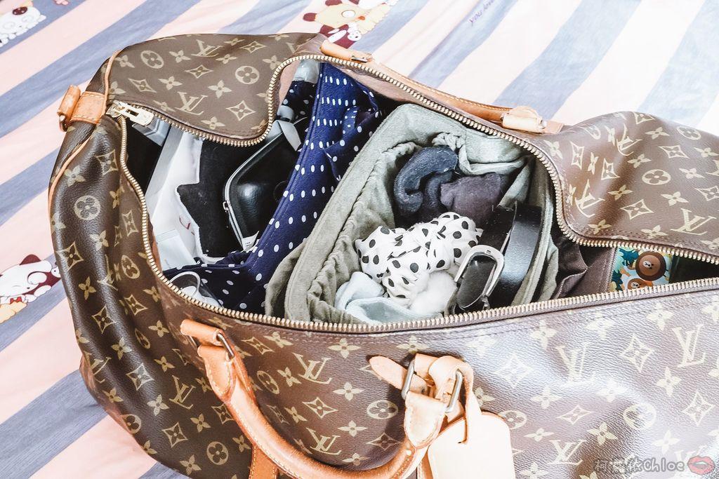 一次收納快速攜帶!CoolgDesign 袋中袋 解決了我收納問題 LV Speedy、Longchamp包適用23.jpg