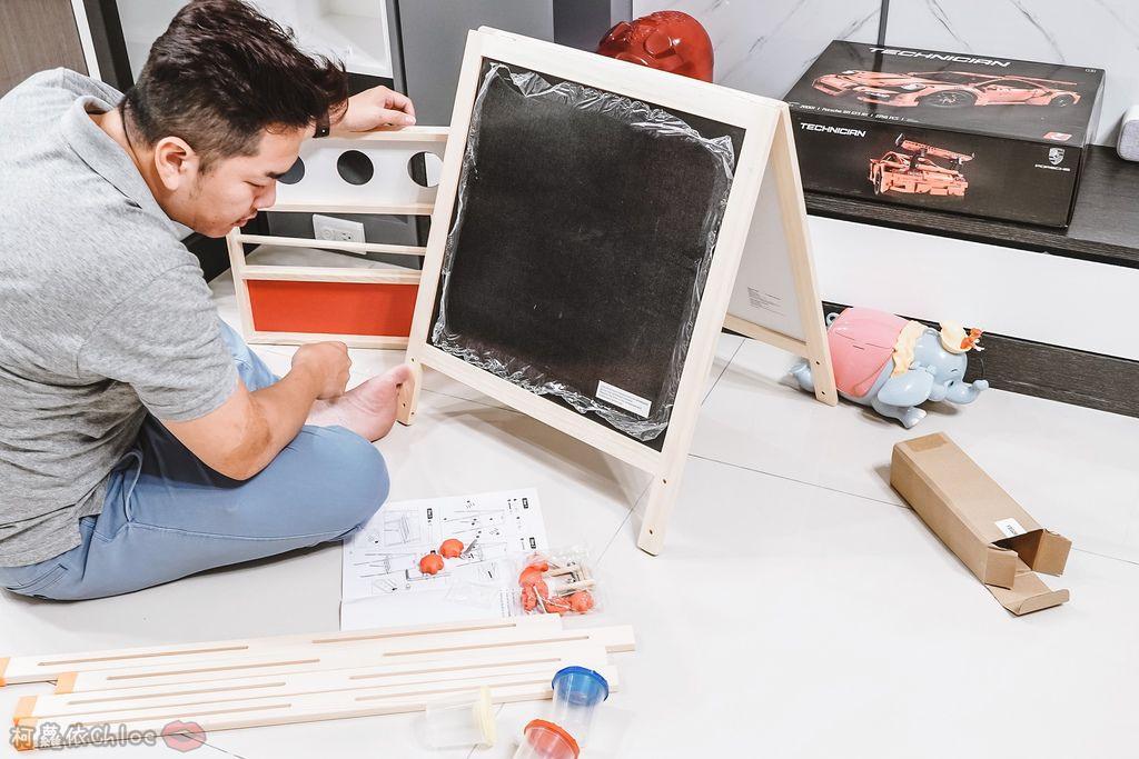 親子好物開箱 Teamson Kids小藝術家梵谷兒童雙面畫架-紅 高質感三用畫板 可調整高度 (限時開團4.jpg