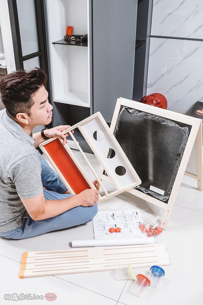 親子好物開箱 Teamson Kids小藝術家梵谷兒童雙面畫架-紅 高質感三用畫板 可調整高度 (限時開團5.jpg
