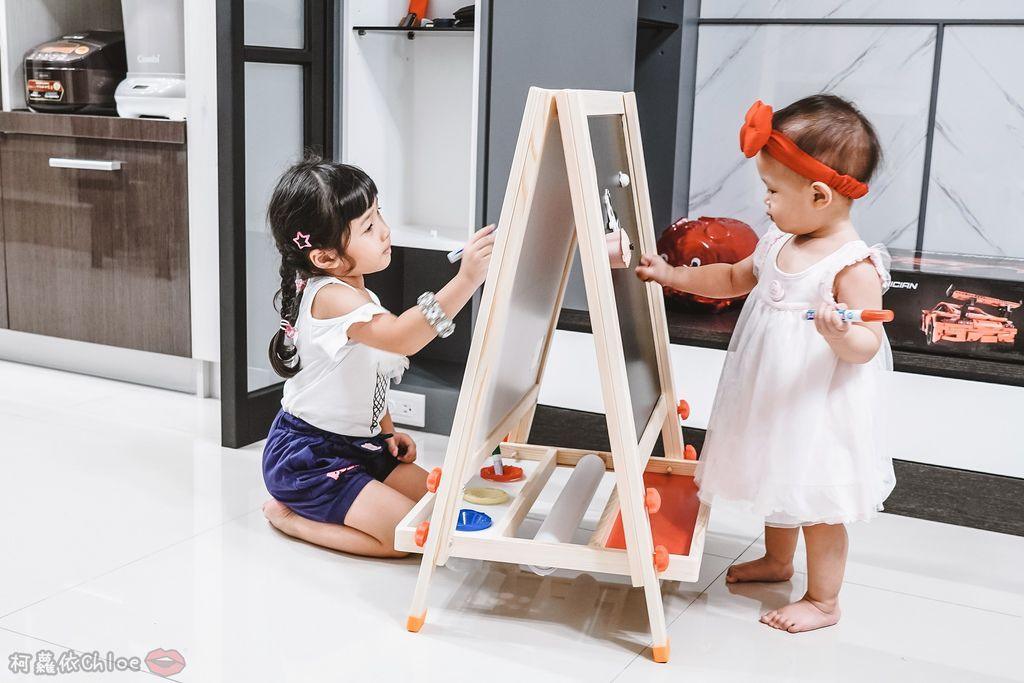 親子好物開箱 Teamson Kids小藝術家梵谷兒童雙面畫架-紅 高質感三用畫板 可調整高度 (限時開團13.jpg
