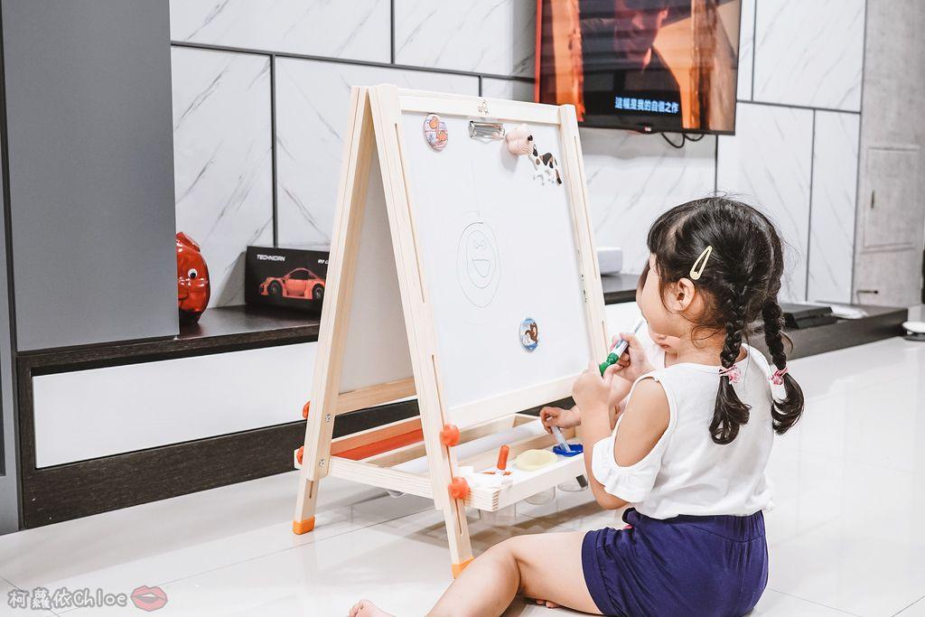 親子好物開箱 Teamson Kids小藝術家梵谷兒童雙面畫架-紅 高質感三用畫板 可調整高度 (限時開團11.jpg