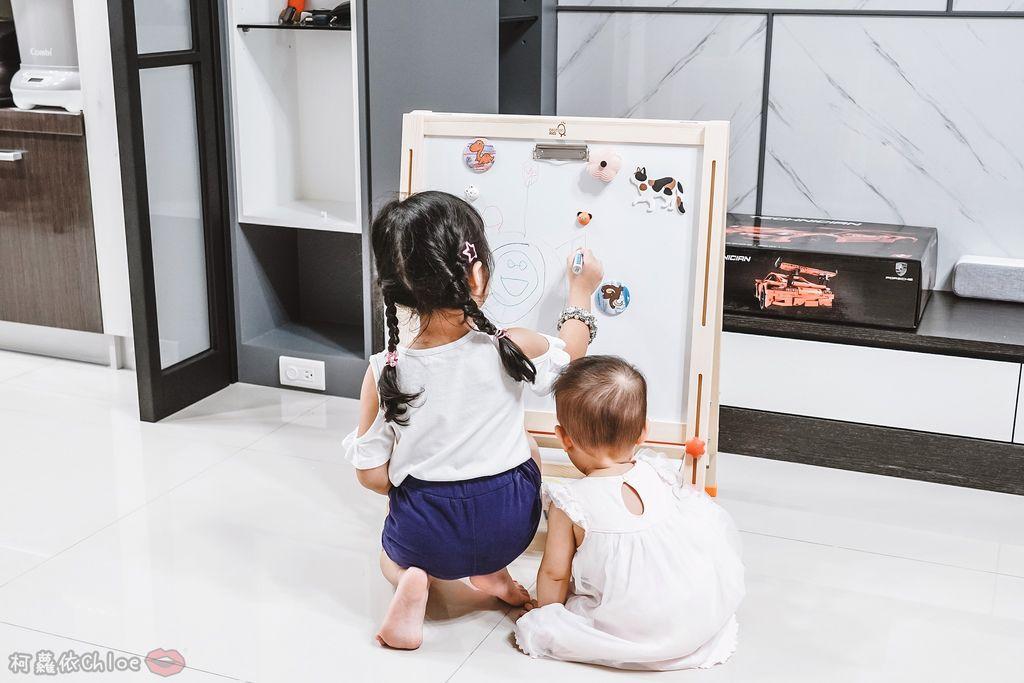 親子好物開箱 Teamson Kids小藝術家梵谷兒童雙面畫架-紅 高質感三用畫板 可調整高度 (限時開團12.jpg