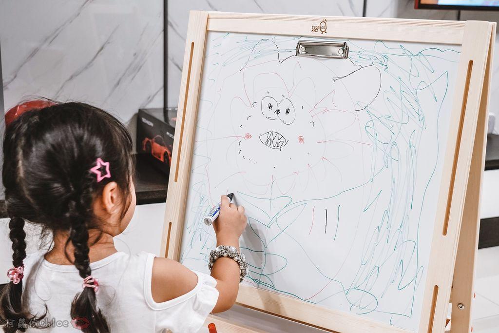 親子好物開箱 Teamson Kids小藝術家梵谷兒童雙面畫架-紅 高質感三用畫板 可調整高度 (限時開團21.jpg