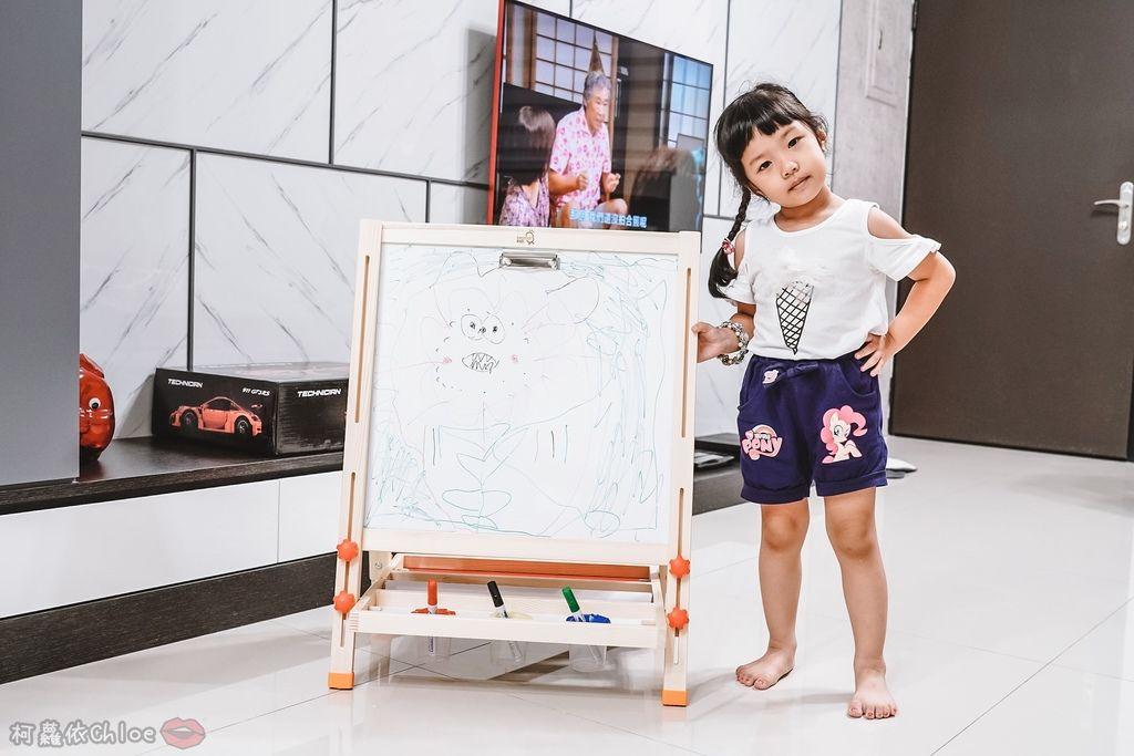 親子好物開箱 Teamson Kids小藝術家梵谷兒童雙面畫架-紅 高質感三用畫板 可調整高度 (限時開團22.jpg