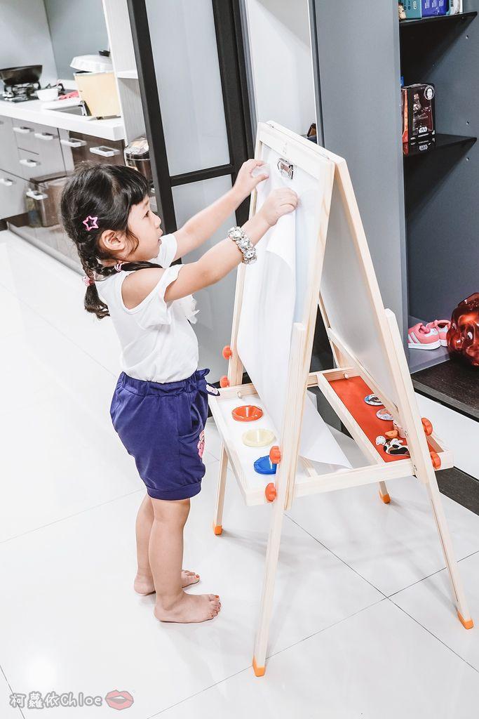 親子好物開箱 Teamson Kids小藝術家梵谷兒童雙面畫架-紅 高質感三用畫板 可調整高度 (限時開團30.jpg