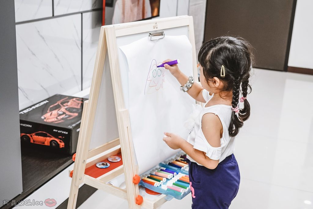 親子好物開箱 Teamson Kids小藝術家梵谷兒童雙面畫架-紅 高質感三用畫板 可調整高度 (限時開團33.jpg