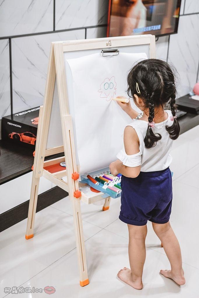 親子好物開箱 Teamson Kids小藝術家梵谷兒童雙面畫架-紅 高質感三用畫板 可調整高度 (限時開團32.jpg