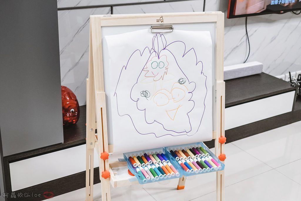 親子好物開箱 Teamson Kids小藝術家梵谷兒童雙面畫架-紅 高質感三用畫板 可調整高度 (限時開團35.jpg