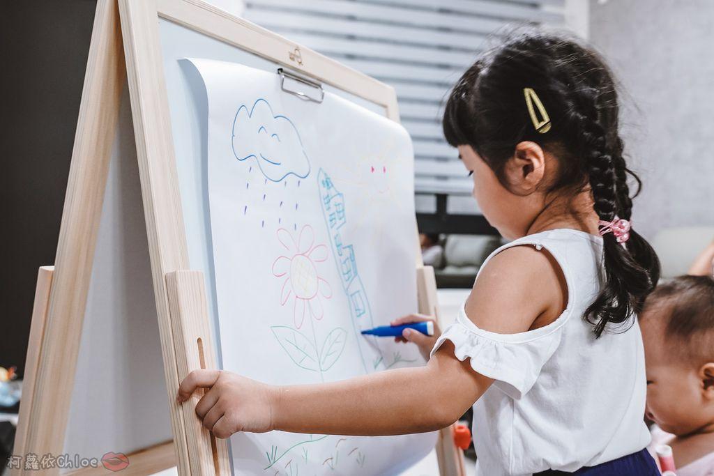 親子好物開箱 Teamson Kids小藝術家梵谷兒童雙面畫架-紅 高質感三用畫板 可調整高度 (限時開團36.jpg