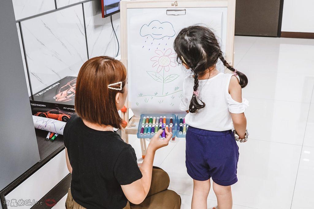 親子好物開箱 Teamson Kids小藝術家梵谷兒童雙面畫架-紅 高質感三用畫板 可調整高度 (限時開團37.jpg