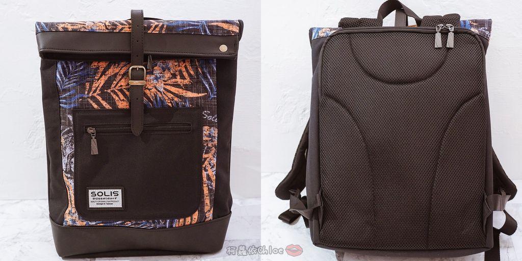 環保時尚包 SOLIS防撥水後背包 工作 休閒都適合的機能性筆電背包5.jpg