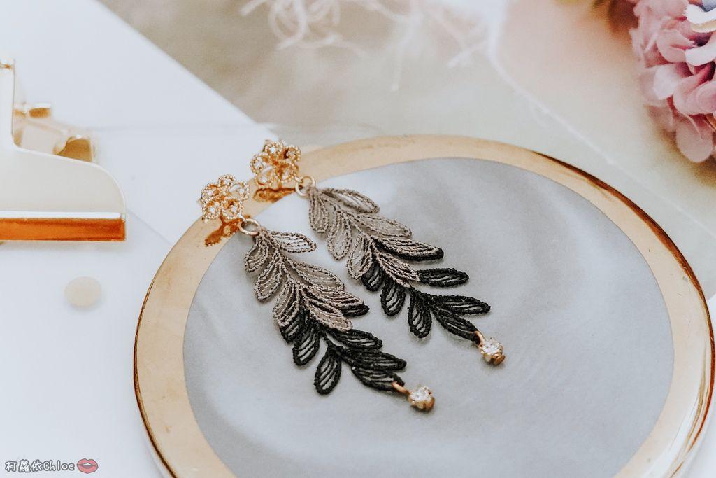 飾品穿搭 明林蕾絲療癒系蕾絲耳環 優雅時尚單品6.jpg