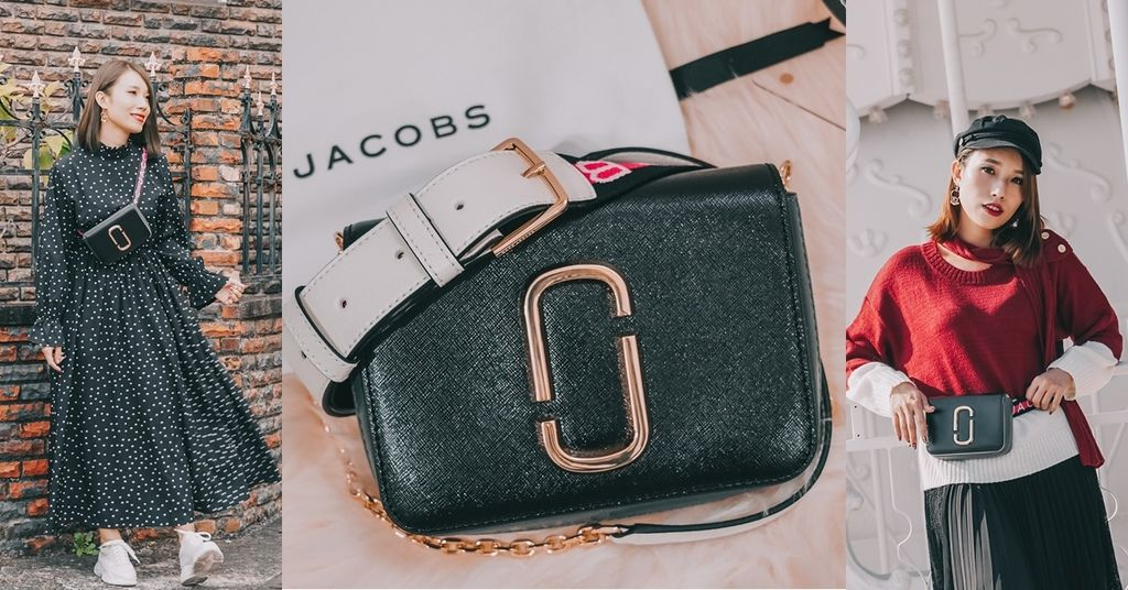 開箱穿搭 MARC JACOBS LOGO STRAP HIP SHOT BAG 腰包肩背包 一包多用途 高CP值超人氣MJ包.jpg
