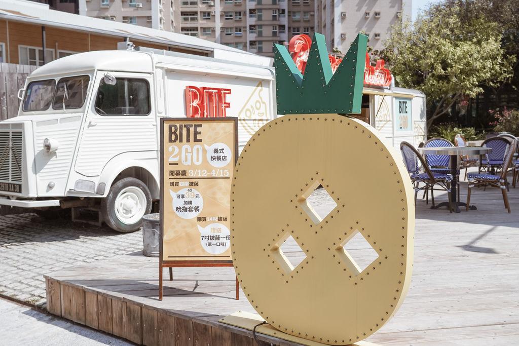高雄美食 BITE 2 GO 義式快餐店 薄多義旗下外帶店 純白色餐車超吸睛1.jpg