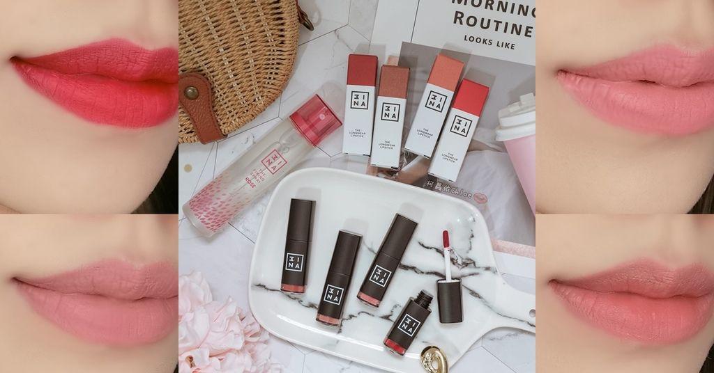 彩妝 西班牙平價彩妝3INA #超印色染唇釉 試色分享+夏天定妝必備的 #小桃噴 定妝噴霧.jpg