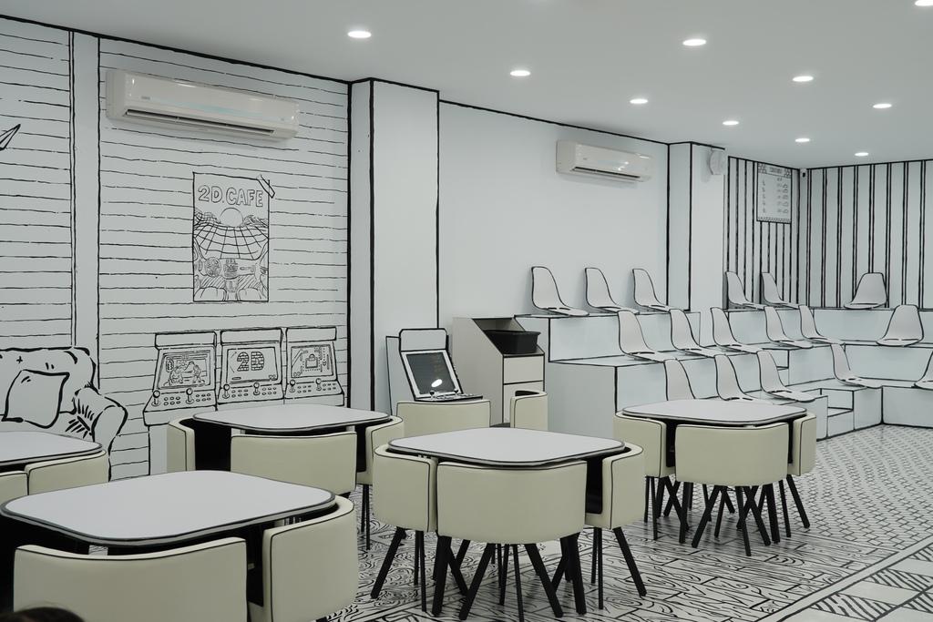 高雄2D Cafe 走進黑白漫畫裡 甜點咖啡美照拍不停 進瑞豐夜市 巨蛋站2號出口6.jpg