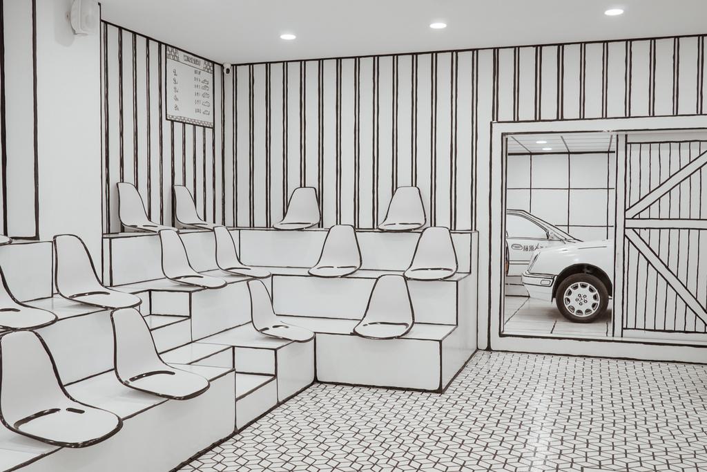 高雄2D Cafe 走進黑白漫畫裡 甜點咖啡美照拍不停 進瑞豐夜市 巨蛋站2號出口8.jpg