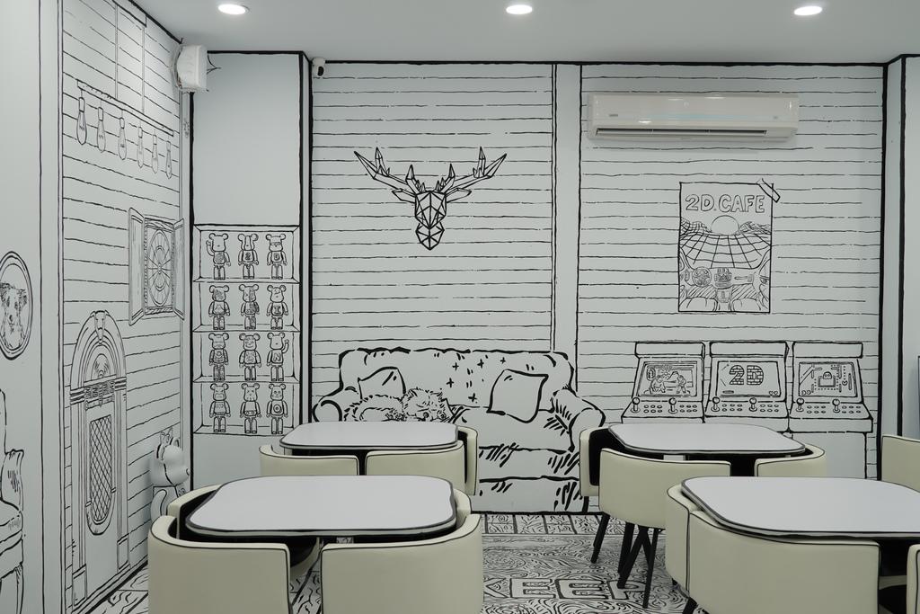 高雄2D Cafe 走進黑白漫畫裡 甜點咖啡美照拍不停 進瑞豐夜市 巨蛋站2號出口7.jpg