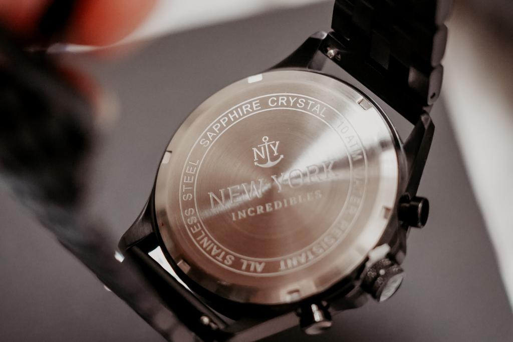 上班族男錶推薦 New York Incredibles三眼錶不鏽鋼黑錶帶 質感好搭又好看5.jpg