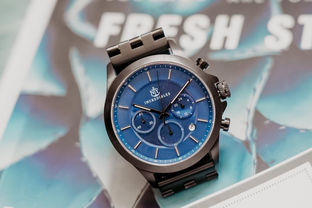 上班族男錶推薦 New York Incredibles三眼錶不鏽鋼黑錶帶 質感好搭又好看8.jpg