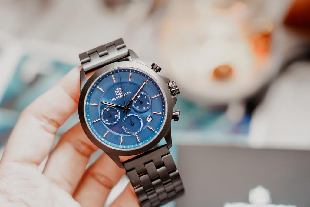 上班族男錶推薦 New York Incredibles三眼錶不鏽鋼黑錶帶 質感好搭又好看9.jpg