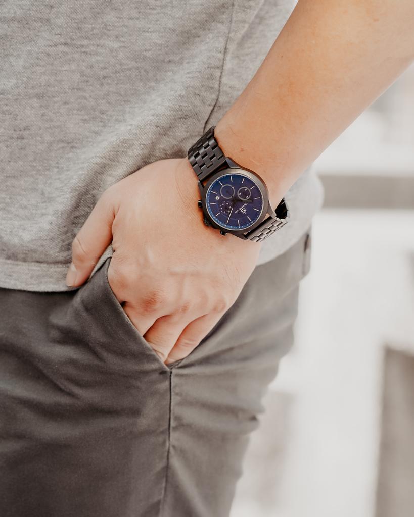 上班族男錶推薦 New York Incredibles三眼錶不鏽鋼黑錶帶 質感好搭又好看14.jpg