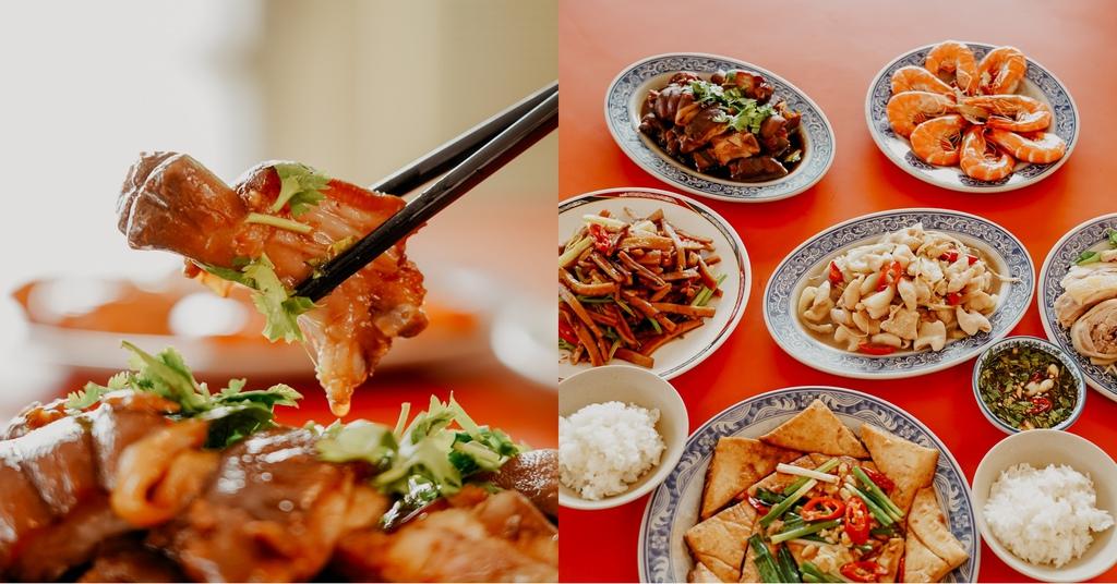 潮州美食 灘頭客家常菜 屏東潮州在地的好味道 滷豬腳、薑絲大腸、紅燒豆腐必點.jpg