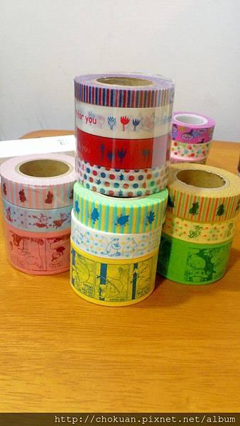 嚕嚕米紙膠帶(1)禮物(2)嚕嚕米(3)小不點(4)阿金