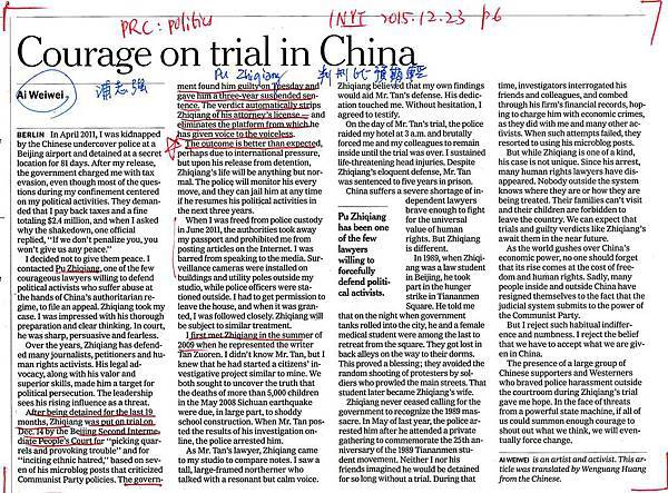 20151223 Courage on trial in China
