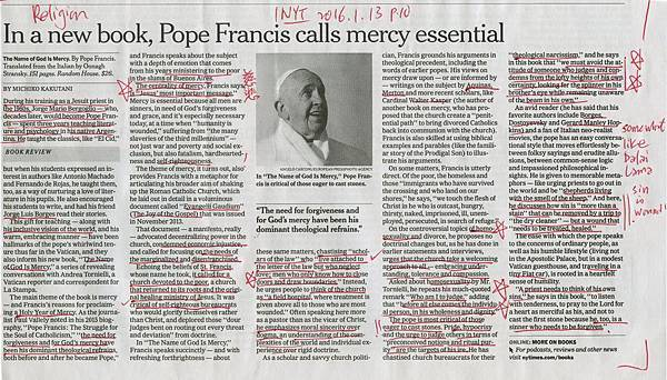 20160113 In a new book, Pope Francis calls mercy essential