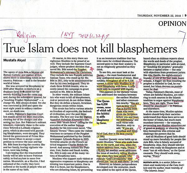 20181122 Ture Islam does not kill blasphemersOK.jpg