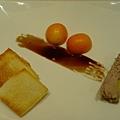 烤得酥脆的小吐司片,搭配日本來的甜蜜小金桔