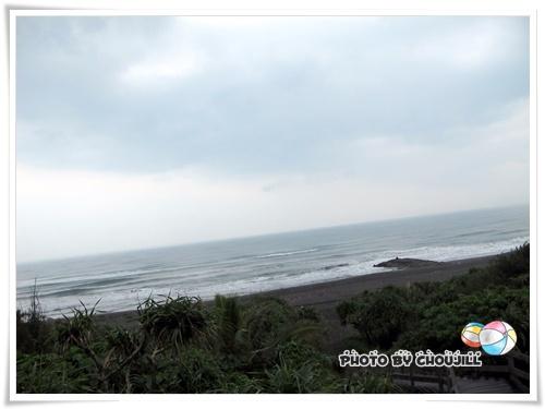 今天壯圍的海邊風浪很大