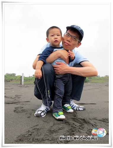 喜感的爸爸與帥氣的兒子